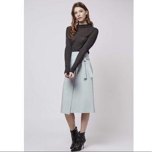 Topshop Blue Wrap Skirt